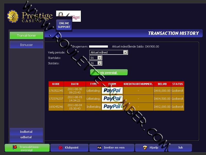 Rasmus Hansen aus Dänemark gewann 12.500 DKK an Prestige Casino