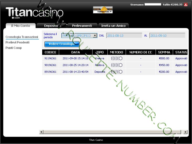 Enrico Giordano aus Italien gewann 1.250 Euro bei Titan Casino